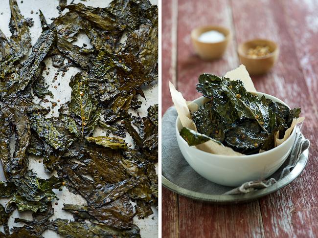 Receta de chips de col rizada picante |  WhiteOnRiceCouple.com