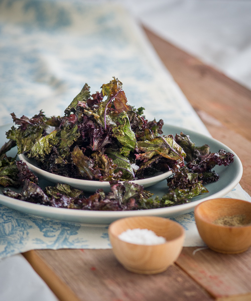 Kale Chips Recipe Baked with Sea Salt and Black Pepper