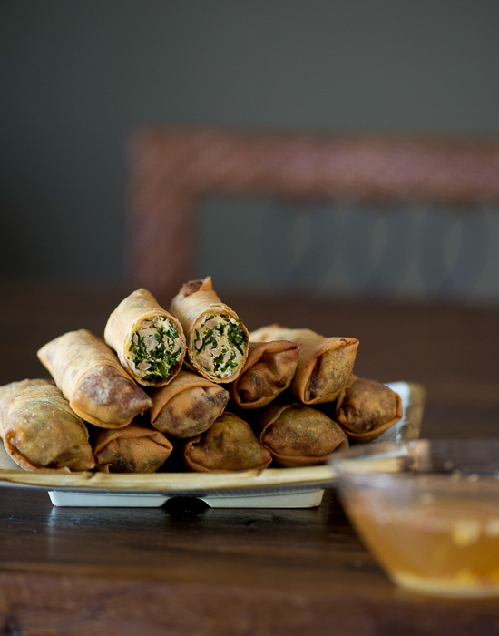 Kale and Chicken Egg Rolls Recipe from White On Rice Couple