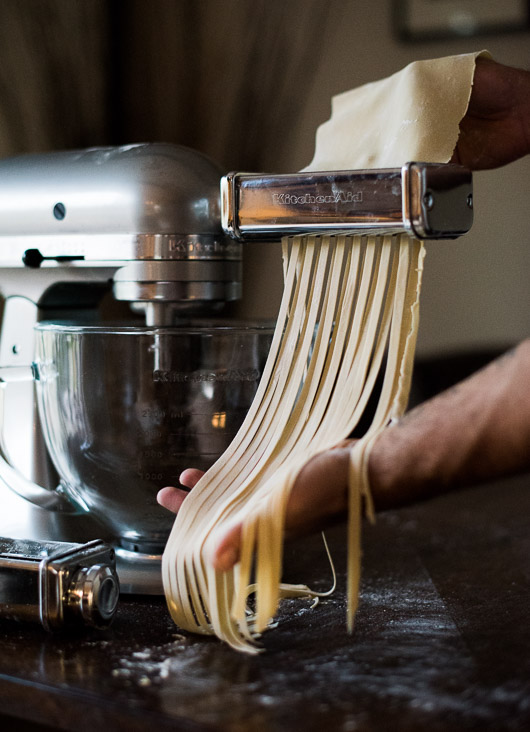 KitchenAid Stand Mixer and Pasta Attachment makes great homemade pasta on @whiteonrice