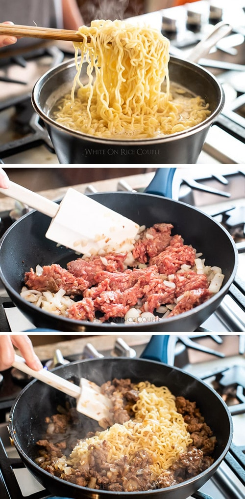 korean pork kimchi noodles recipe   whiteonricecouple.com