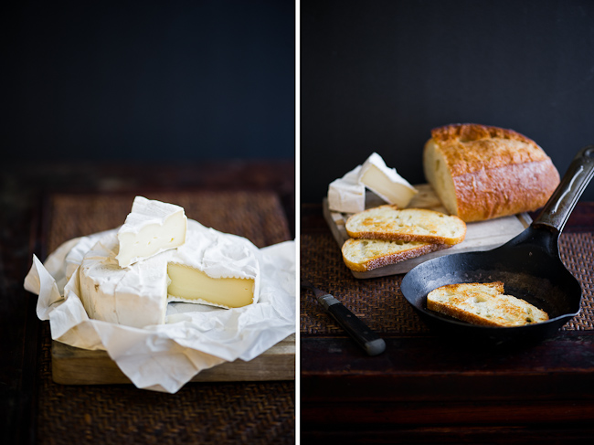 brie cheese and toasted bread