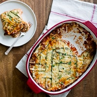 No Pasta, Zucchini Lower-Carb Lasagna is satisfying and delicious | @whiteonrice