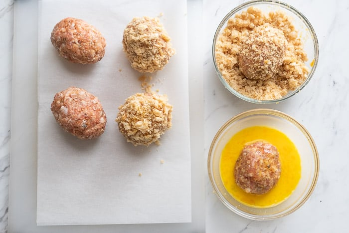 scotch eggs recipe that's low carb and easy | WhiteOnRiceCouple.com