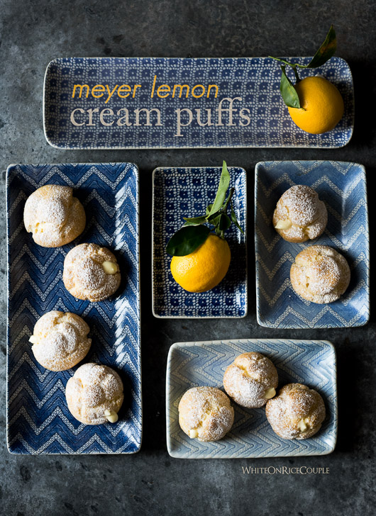 Meyer Lemon Cream Puffs Recipe @whiteonrice