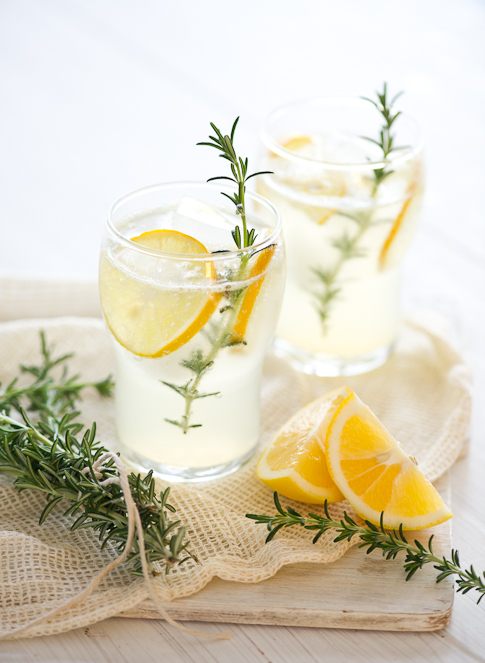 Meyer Lemonade Recipe with Rosemary | @whiteonrice