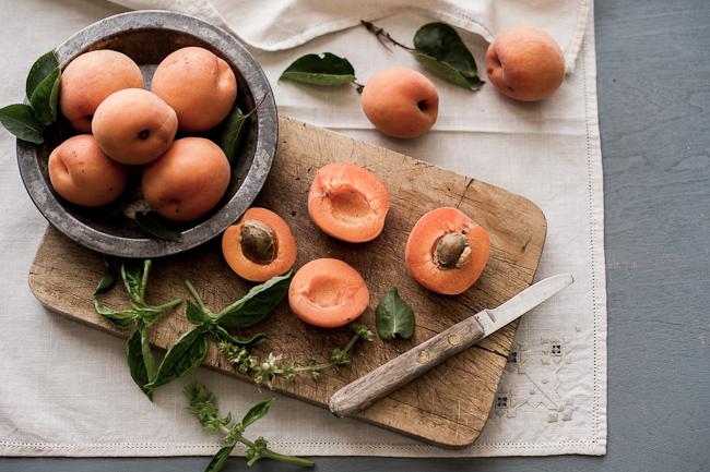 cut apricots