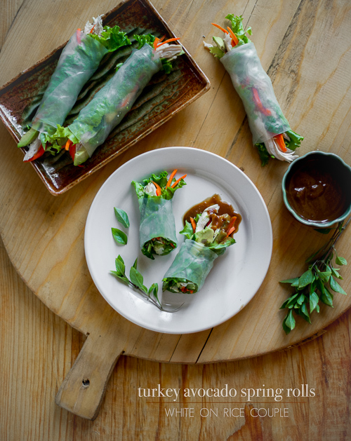 turkey spring rolls leftover turkey spring rolls baked turkey spring ...