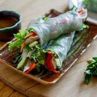 Thumbnail image for Turkey Avocado Spring Rolls w/ Hoisin Peanut Dip