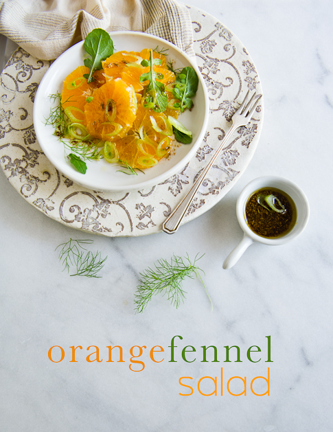 orange fennel salad with toasted fennel vinaigrette from WhiteOnRiceCouple.com