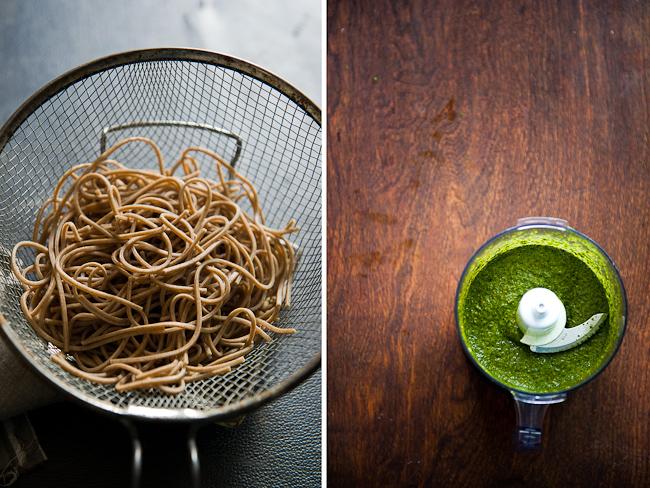 Parsley Pesto Recipe with Soba Noodles or Pasta