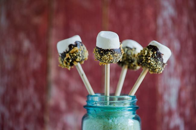 Smore's On a Stick Marshmallow Pops | WhiteOnRiceCouple.com
