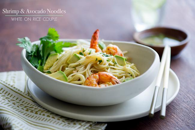 avocado Shrimp Noodle Salad
