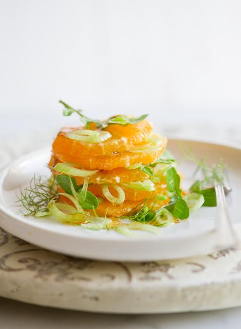 slices of orange salad