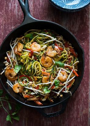 Healthy Zucchini Pad Thai