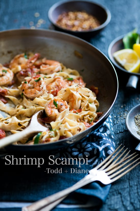 Shrimp scampi recipe with homemade fresh pasta recipe homemade pasta with shrimp scampi recipe whiteonrice forumfinder Images