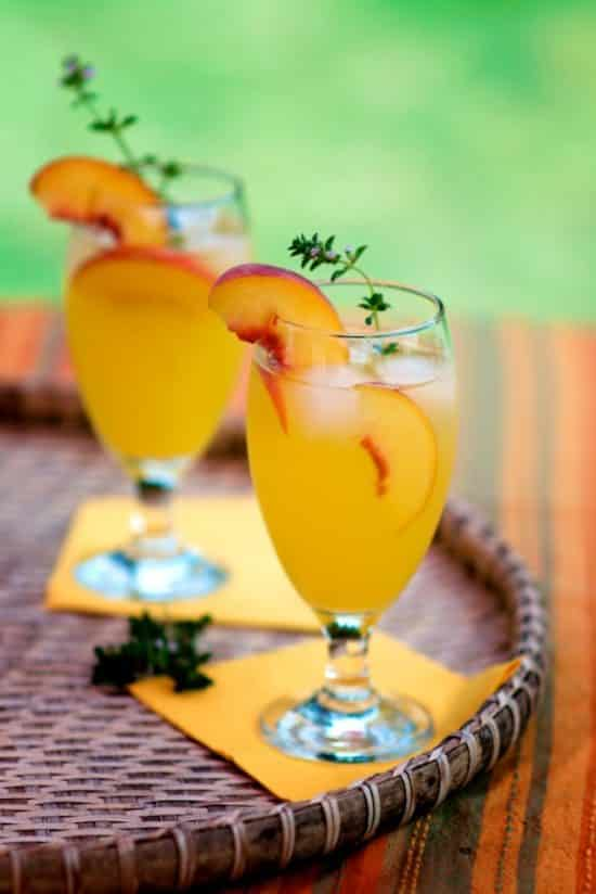 Boozy Peach Coolers Recipe | @whiteonrice