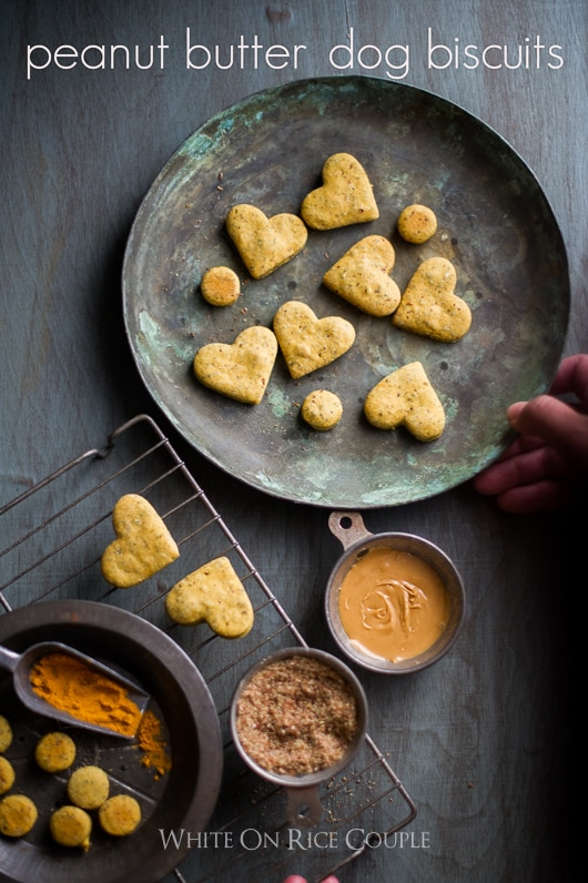 Best peanut butter dog biscuits on a plate