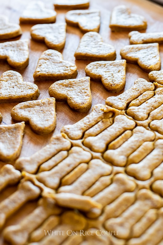 Best peanut butter dog biscuits precut into hearts and bones