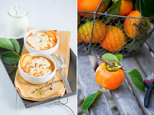 Persimmon Fool Pudding Recipe | WhiteOnRiceCouple.com