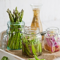 "Thumbnail image for Spring Sweet Pea/Asparagus Pickles from ""Sara Foster's Southern Kitchen"""