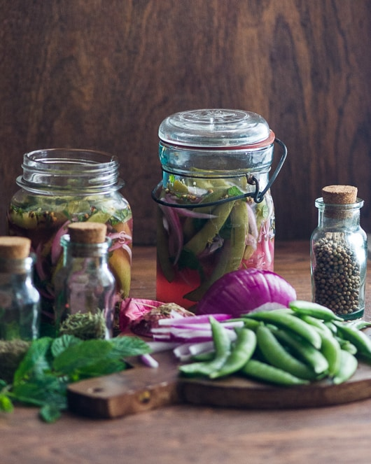 Quick Pickled Sugar Snap Peas with Mint - blogs de Recipes