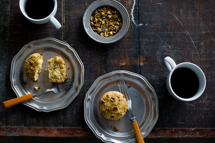 Pistachio Olive Oil Mini Tea Cakes