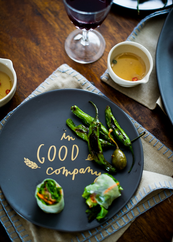 Roasted Asparagus Bacon Spring Rolls or fresh summer wraps recipe | @whiteonrice