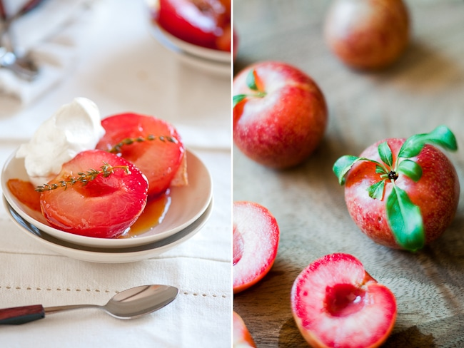 poached pluots recipe or plums