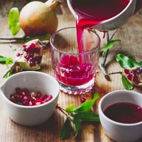 Thumbnail image for Pomegranate Juice & Green Globe Pomegranates