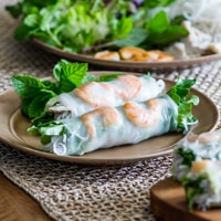Vietnamese Pork and Shrimp Spring Rolls or Summer Rolls