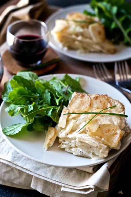 One of the best and creamy Potatoes Au Gratin Recipe from WhiteOnRiceCouple.com