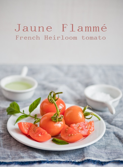 Jaune Flamme French Heirloom Tomato | WhiteOnRiceCouple.com
