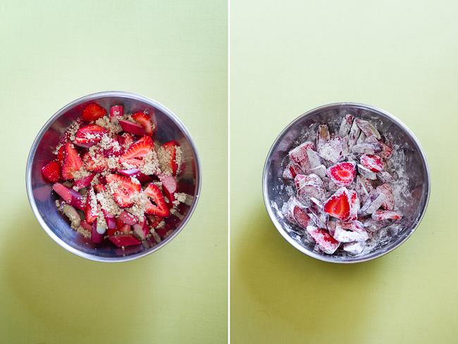 cut strawberries mix