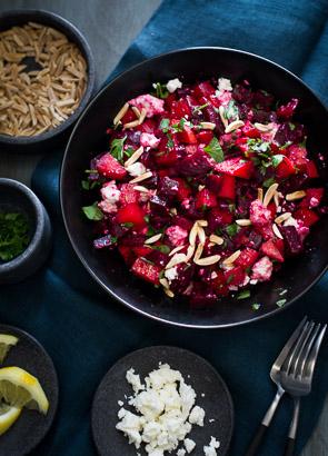 Chopped Roast Beet Salad