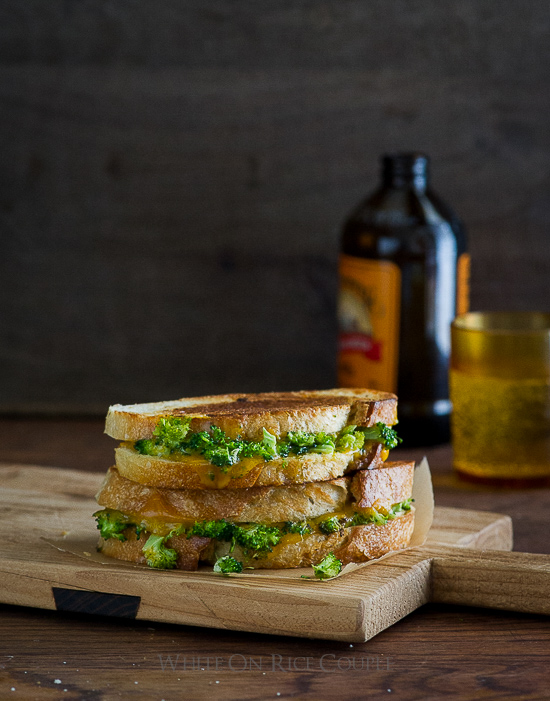 Roasted Broccoli Grilled Cheese Sandwich Recipe