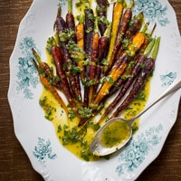 Thumbnail image for Roasted Carrots with Mint Lemon Dressing