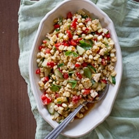 Fire Roasted Grilled Corn Salad Recipe for Summer