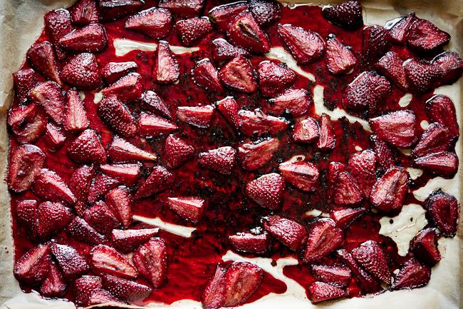 roasted berries on pan