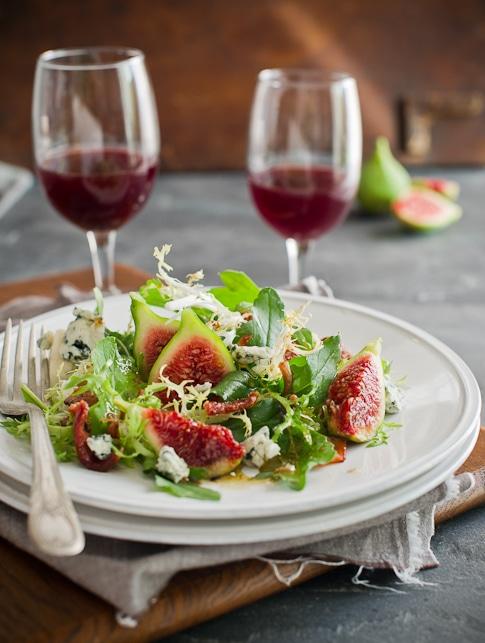 Fall Fest: Arugula-Fig Salad w/Blue Cheese & Warm Bacon Vinaigrette ...