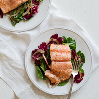 Thumbnail image for Pan-Roasted Salmon w/Orange Vinaigrette & Workshop Updates