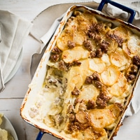 Thumbnail image for Sausage Potatoes au Gratin