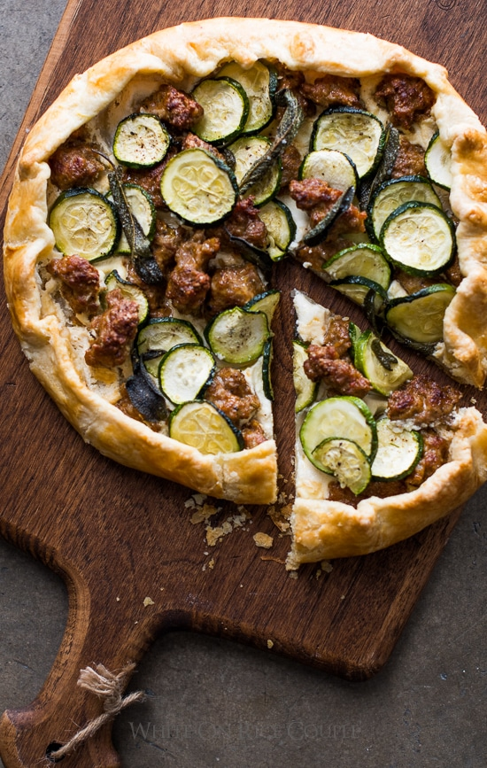Sausage and Zucchini Galette Recipe that's easy and quick for dinner | @whiteonrice