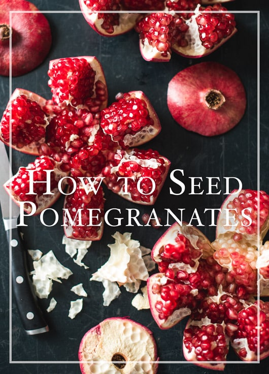 How to seed and remove seeds from pomegranates without making it look like a murder scene | @whiteonrice