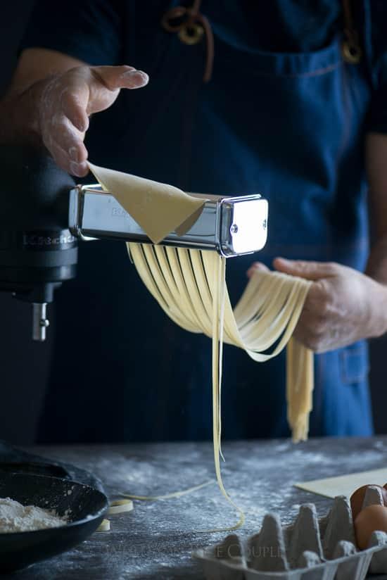 how to make pasta with KitchenAid pasta attachment | @whiteonrice