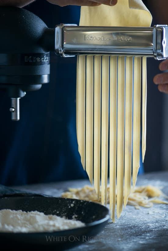 Homemade pasta recipe with KitchenAid mixer attachment | @whiteonrice