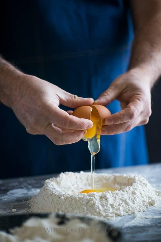 Homemade Pasta with Shrimp Scampi Recipe   @whiteonrice