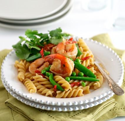 Shrimp Stir Fry Recipe with sugar snap peas
