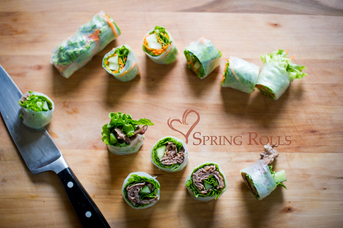Fresh Rice Paper Rolls or Fresh Spring Rolls Recipes | @whiteonrice