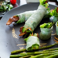 Thumbnail image for Asparagus Bacon Spring Rolls Tapas Party: a Collaboration with West Elm